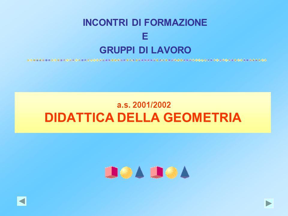 a.s. 2001/2002 DIDATTICA DELLA GEOMETRIA