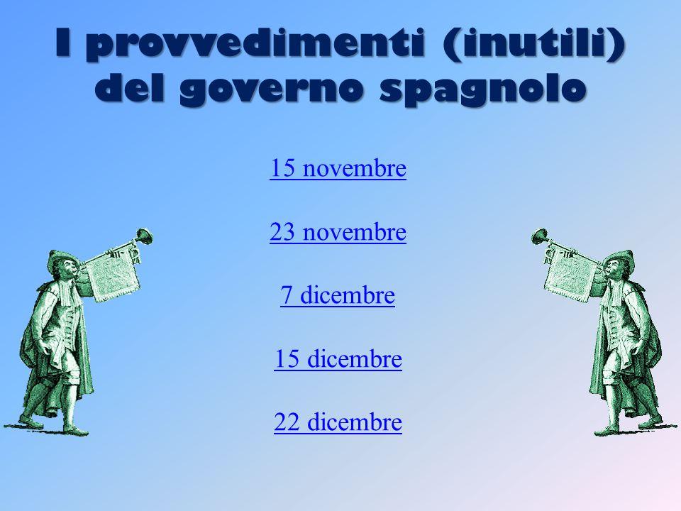 I provvedimenti (inutili) del governo spagnolo