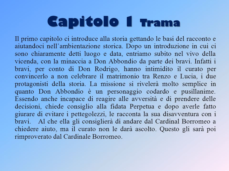 Capitolo 1 Trama