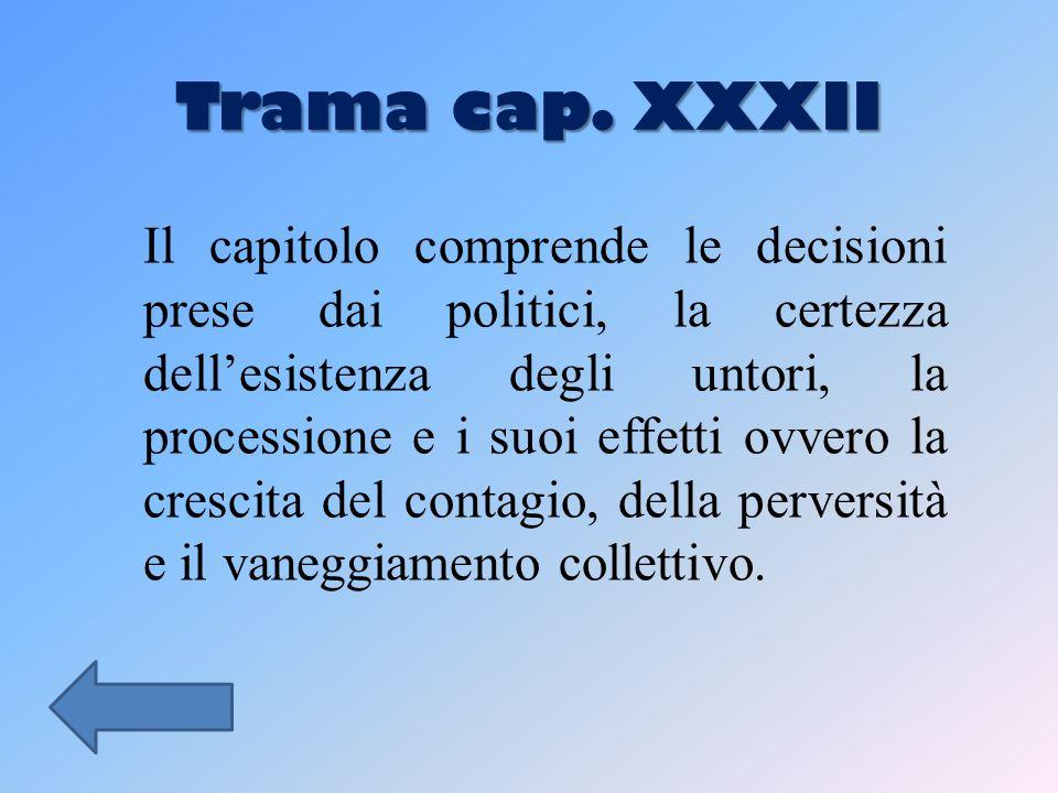 Trama cap. XXXII