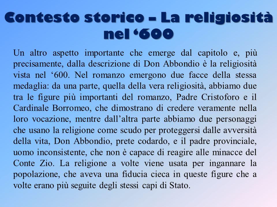 Contesto storico – La religiosità nel '600