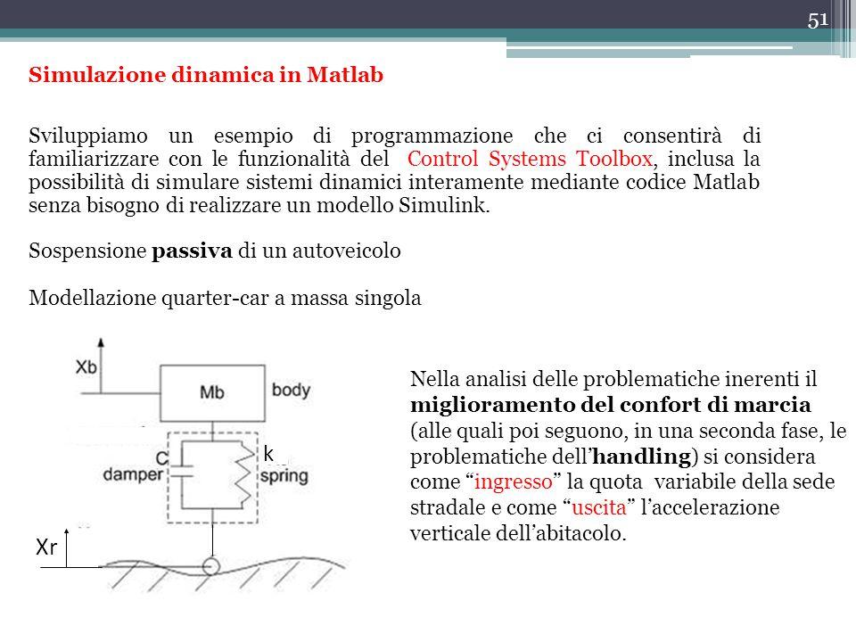 Xr k Simulazione dinamica in Matlab