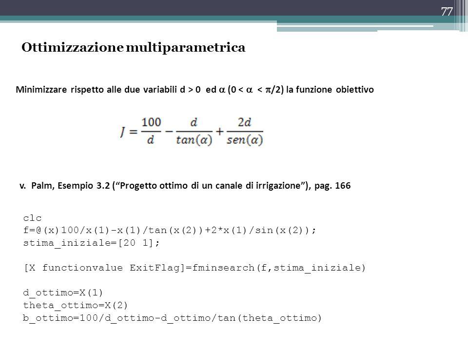 Ottimizzazione multiparametrica