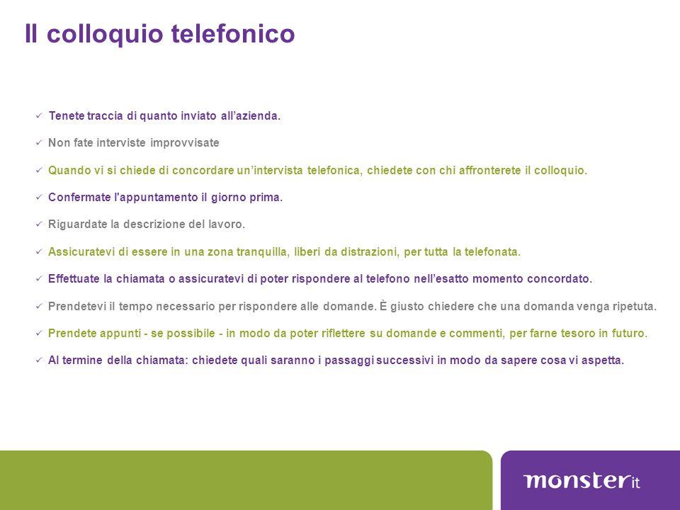 Il colloquio telefonico