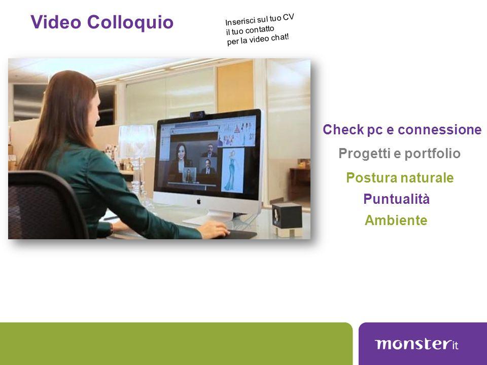 Video Colloquio Check pc e connessione Progetti e portfolio