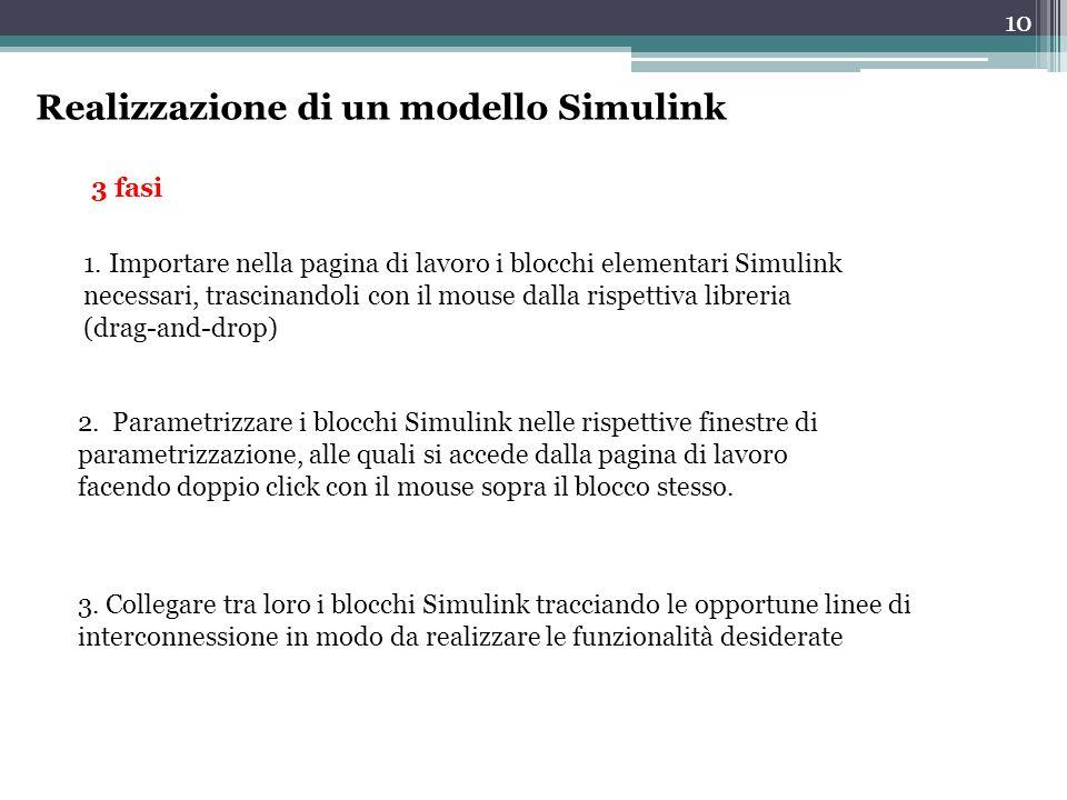 Realizzazione di un modello Simulink