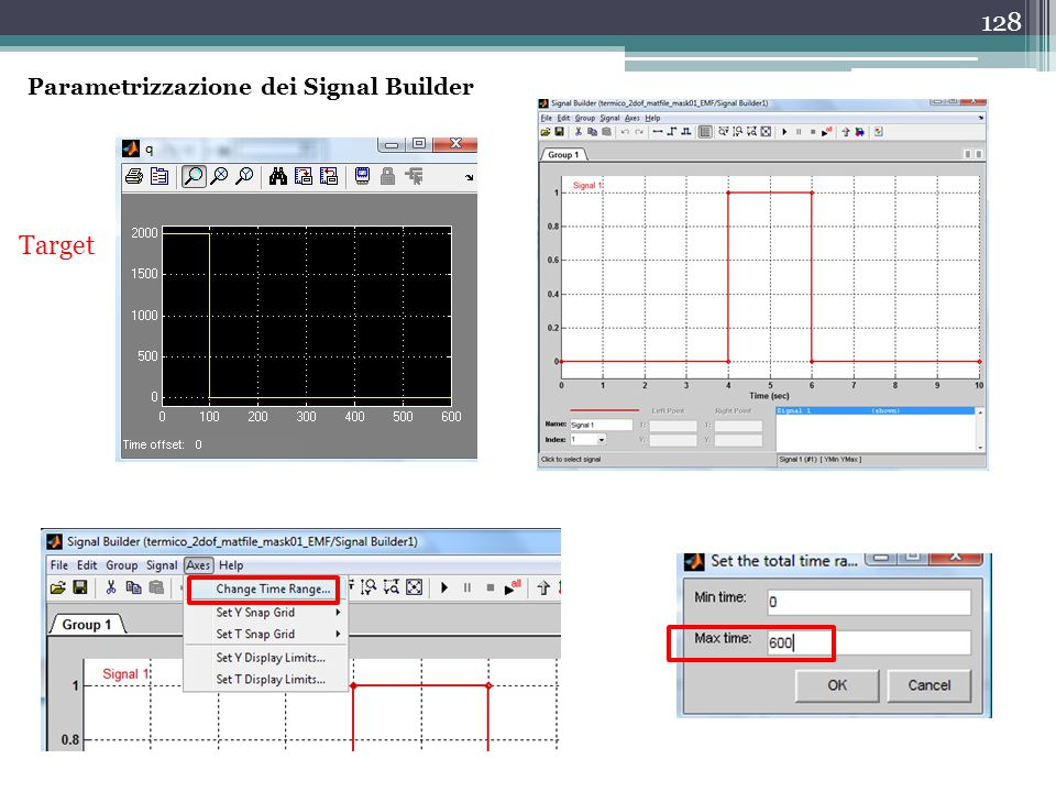 Parametrizzazione dei Signal Builder
