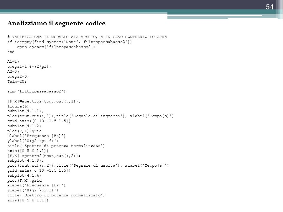 Analizziamo il seguente codice