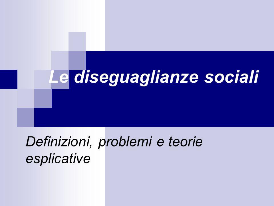 Le diseguaglianze sociali