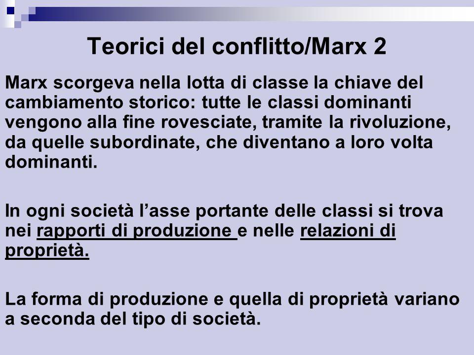 Teorici del conflitto/Marx 2