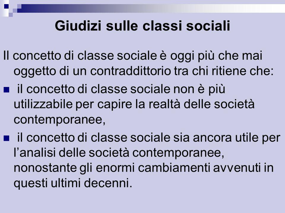 Giudizi sulle classi sociali