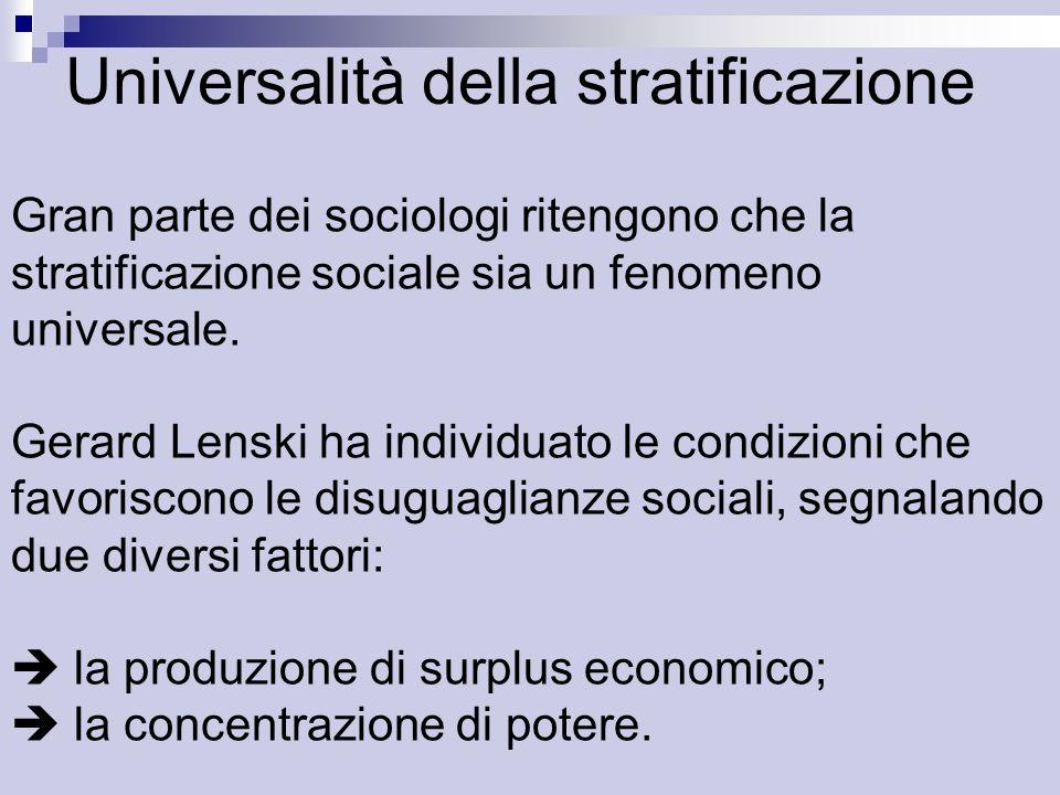 Universalità della stratificazione