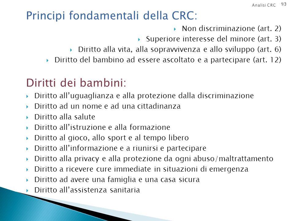 Principi fondamentali della CRC: