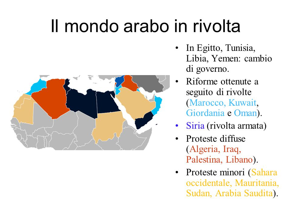 Il mondo arabo in rivolta