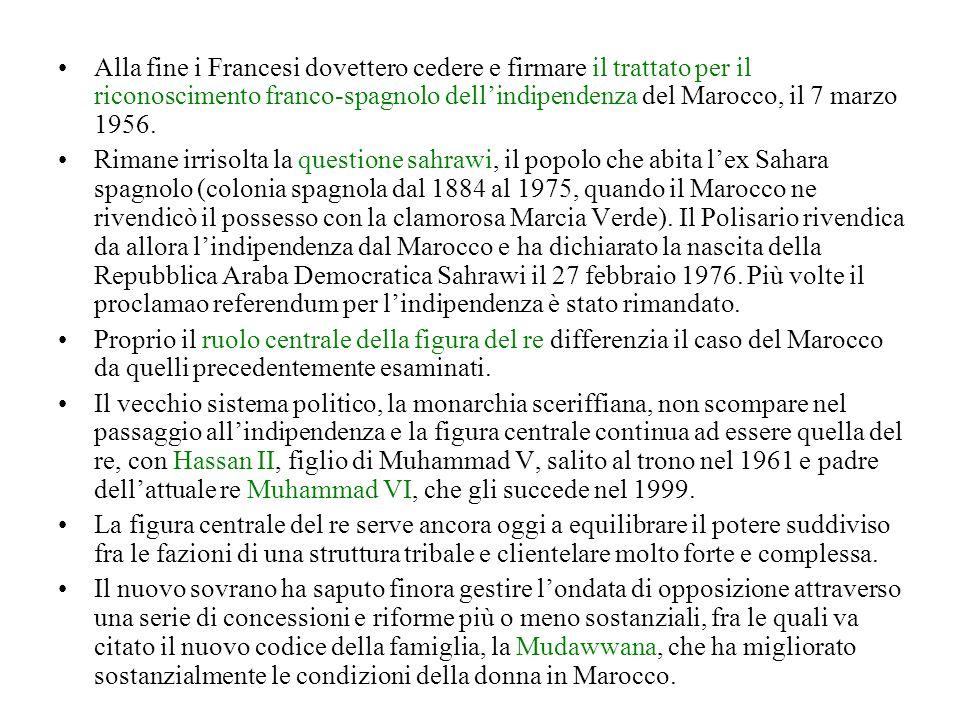 Alla fine i Francesi dovettero cedere e firmare il trattato per il riconoscimento franco-spagnolo dell'indipendenza del Marocco, il 7 marzo 1956.