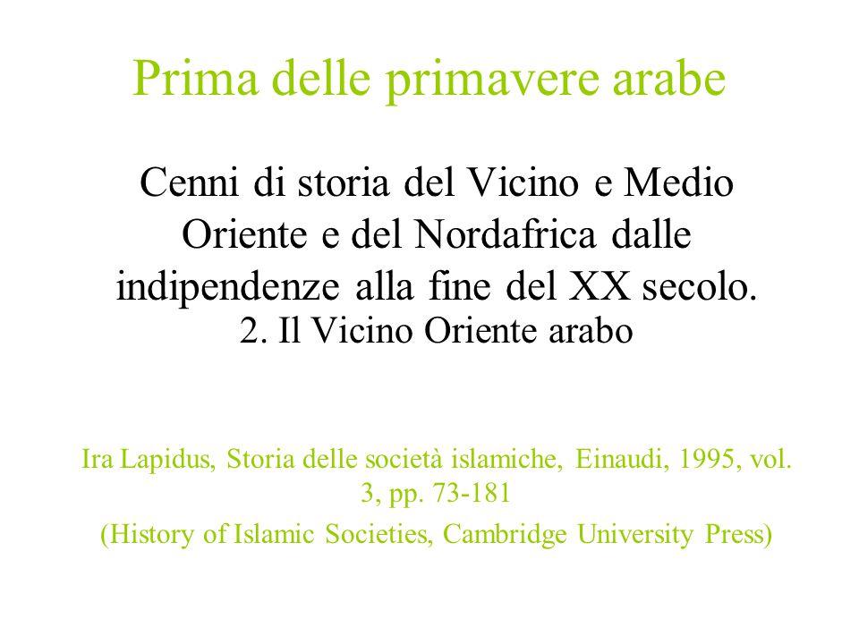 Prima delle primavere arabe