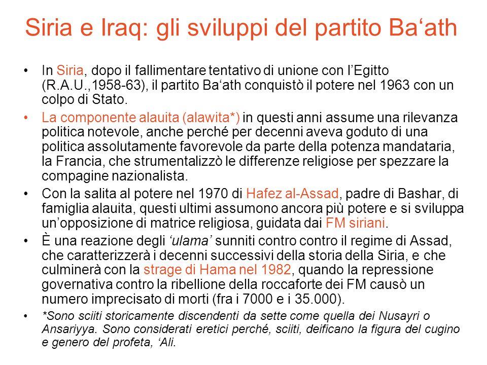 Siria e Iraq: gli sviluppi del partito Ba'ath