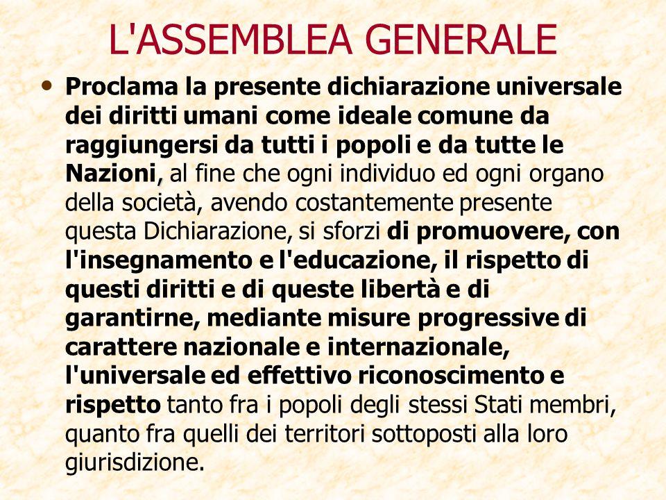 L ASSEMBLEA GENERALE