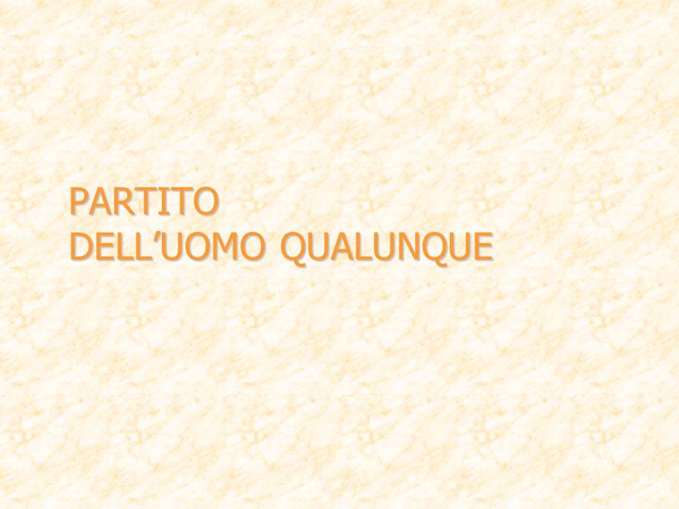 PARTITO DELL'UOMO QUALUNQUE