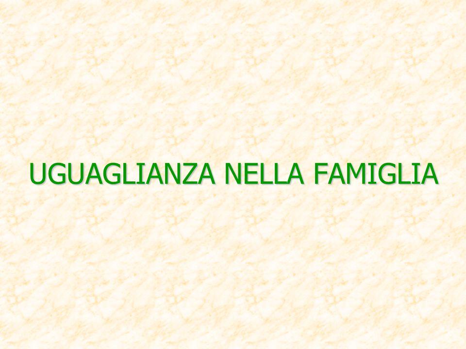 UGUAGLIANZA NELLA FAMIGLIA