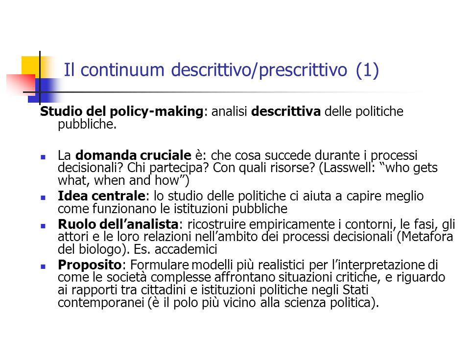 Il continuum descrittivo/prescrittivo (1)