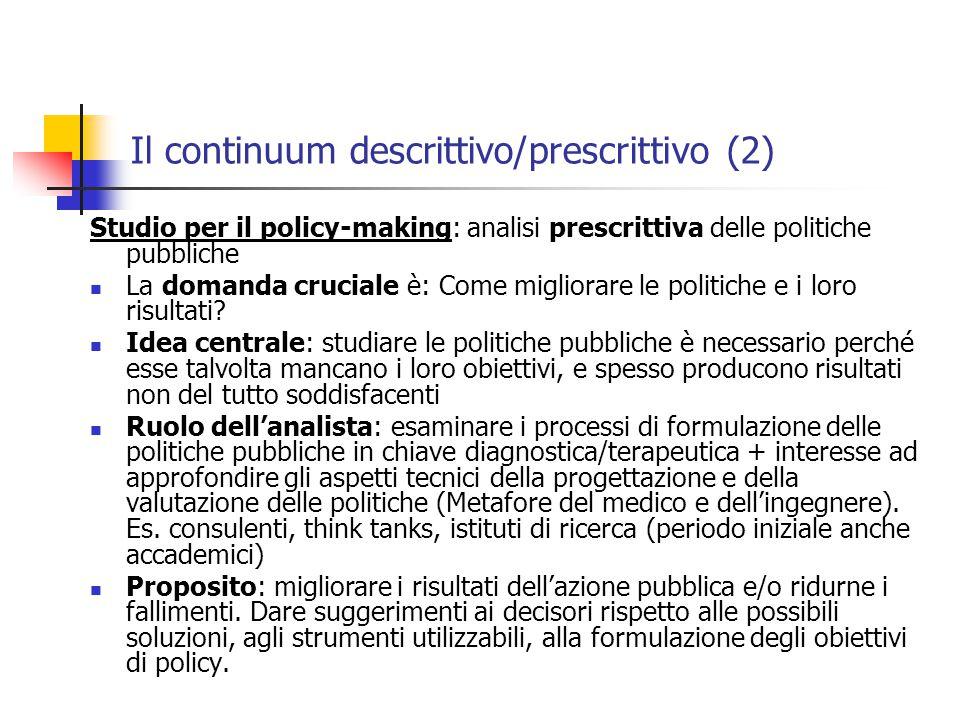 Il continuum descrittivo/prescrittivo (2)