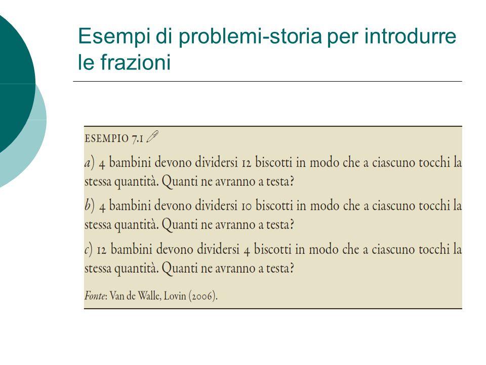 Esempi di problemi-storia per introdurre le frazioni