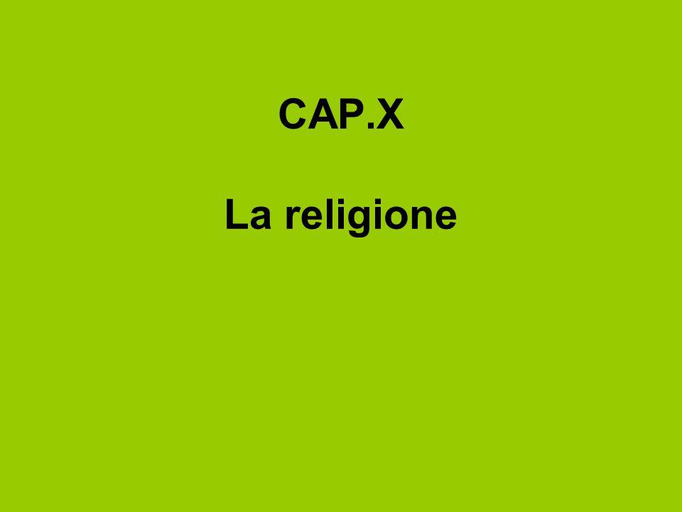CAP.X La religione