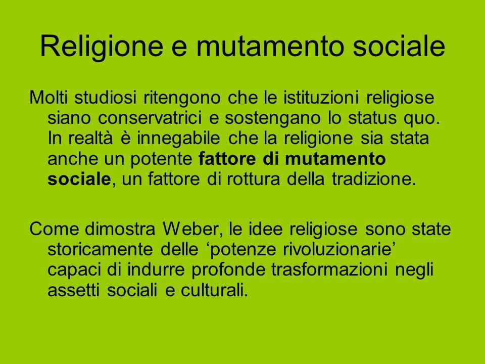 Religione e mutamento sociale