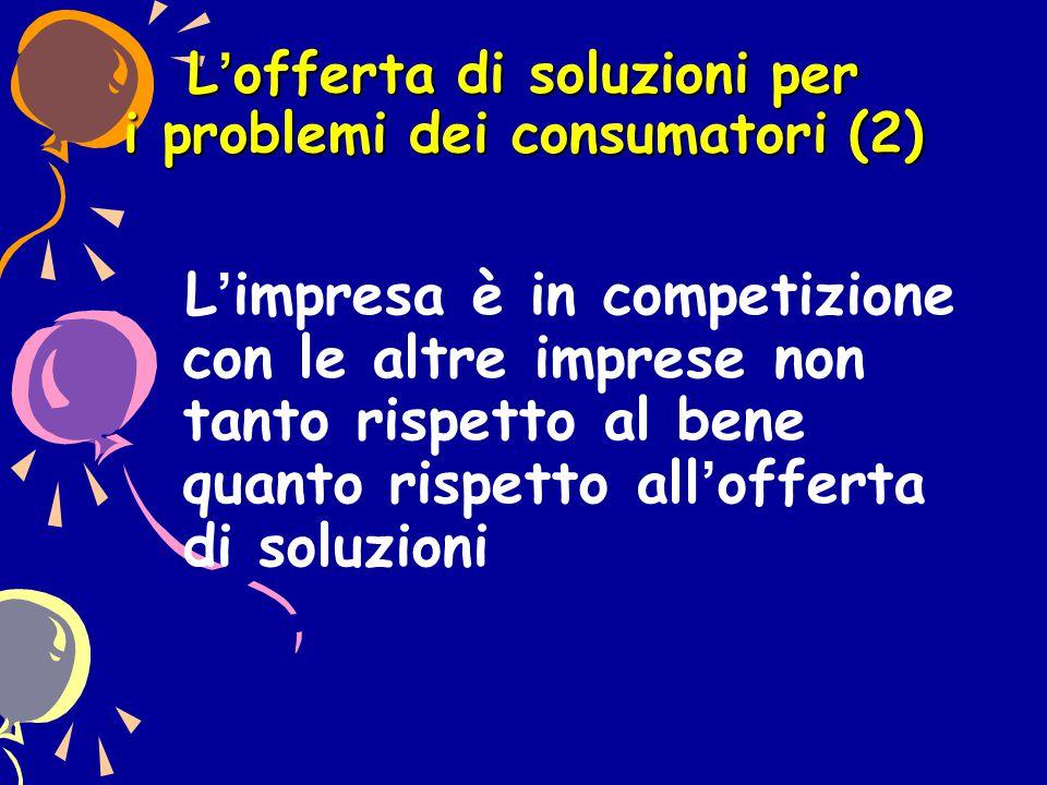 L'offerta di soluzioni per i problemi dei consumatori (2)