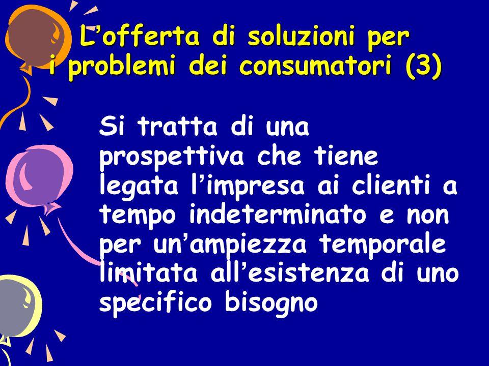 L'offerta di soluzioni per i problemi dei consumatori (3)