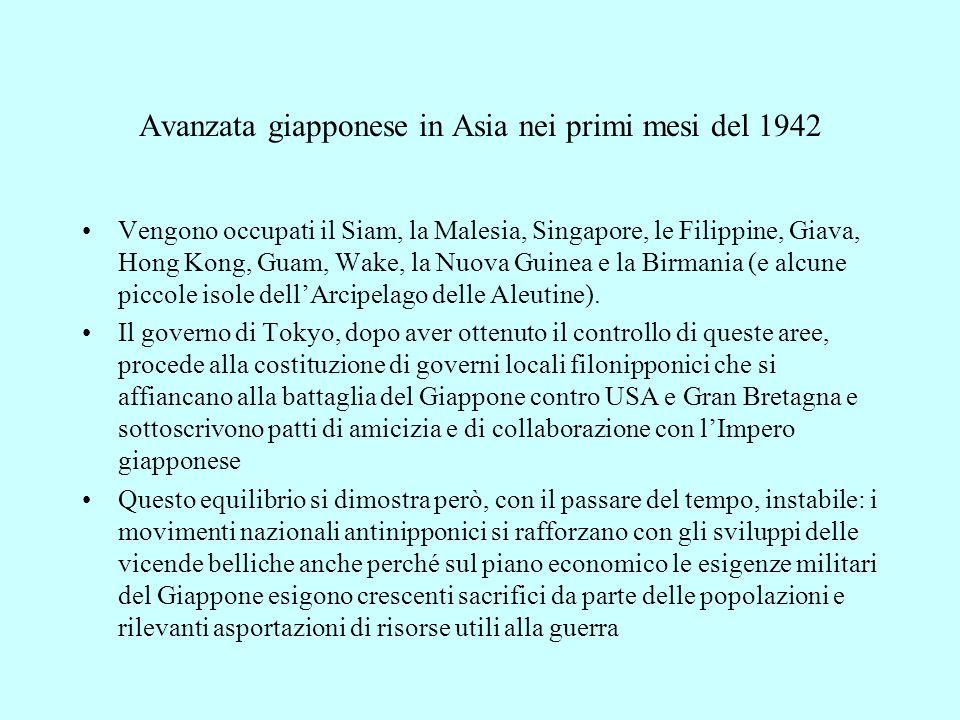 Avanzata giapponese in Asia nei primi mesi del 1942