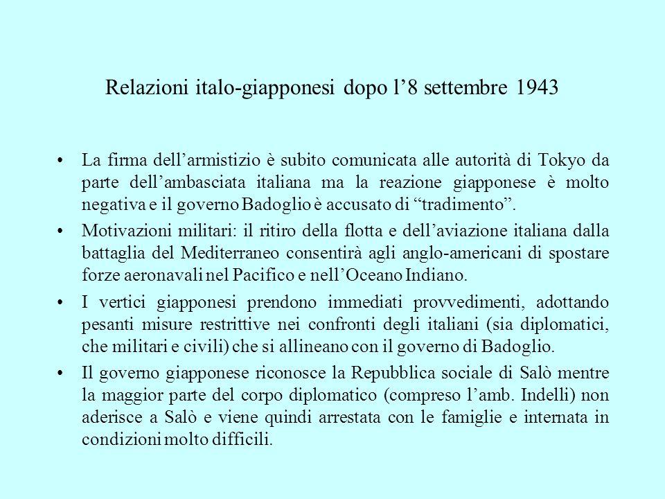 Relazioni italo-giapponesi dopo l'8 settembre 1943