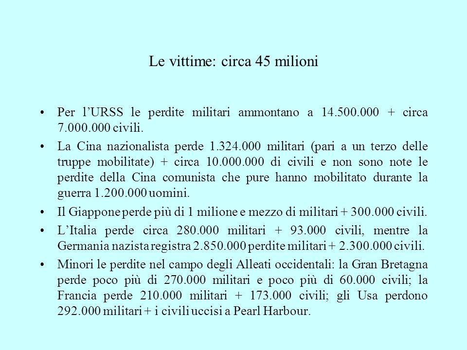 Le vittime: circa 45 milioni