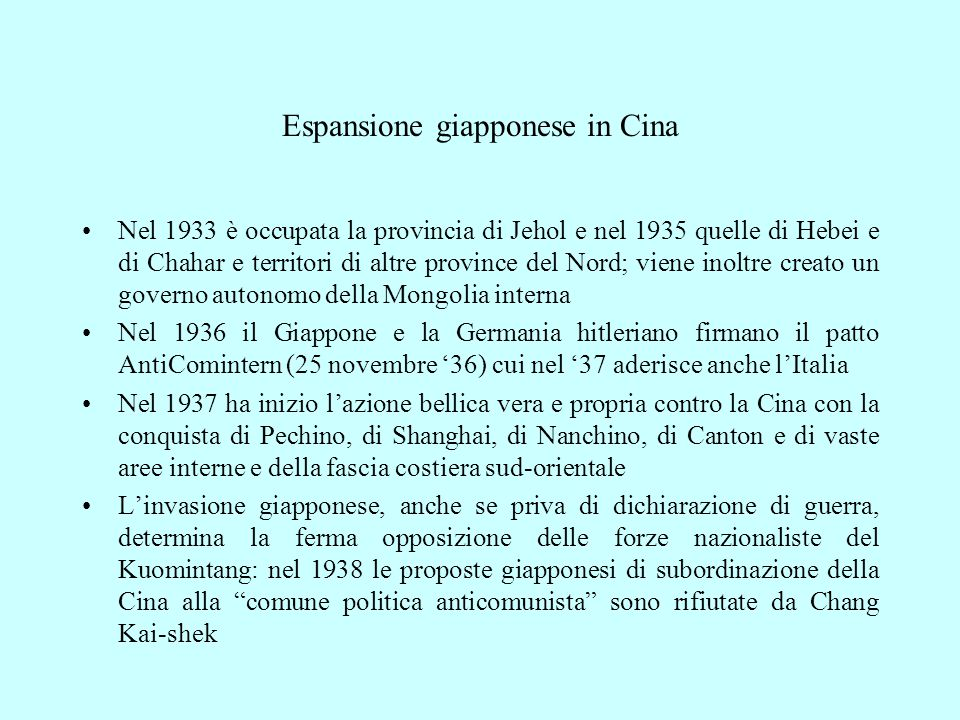 Espansione giapponese in Cina