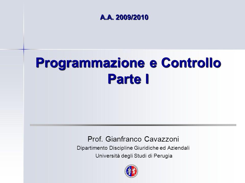 Programmazione e Controllo Parte I
