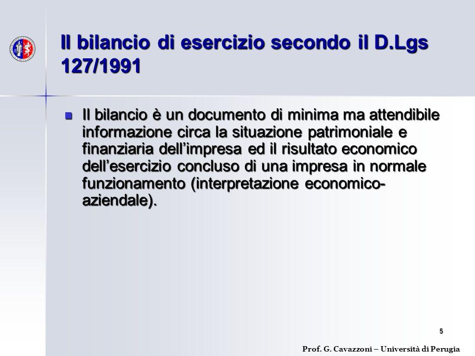 Il bilancio di esercizio secondo il D.Lgs 127/1991