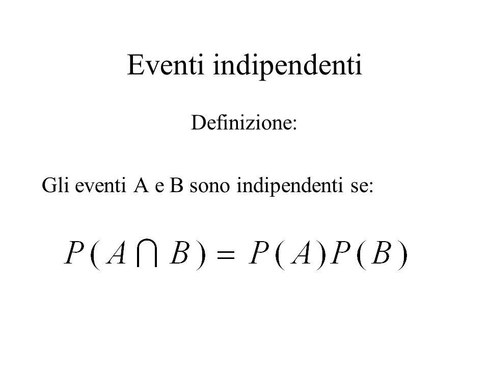 Eventi indipendenti Definizione: