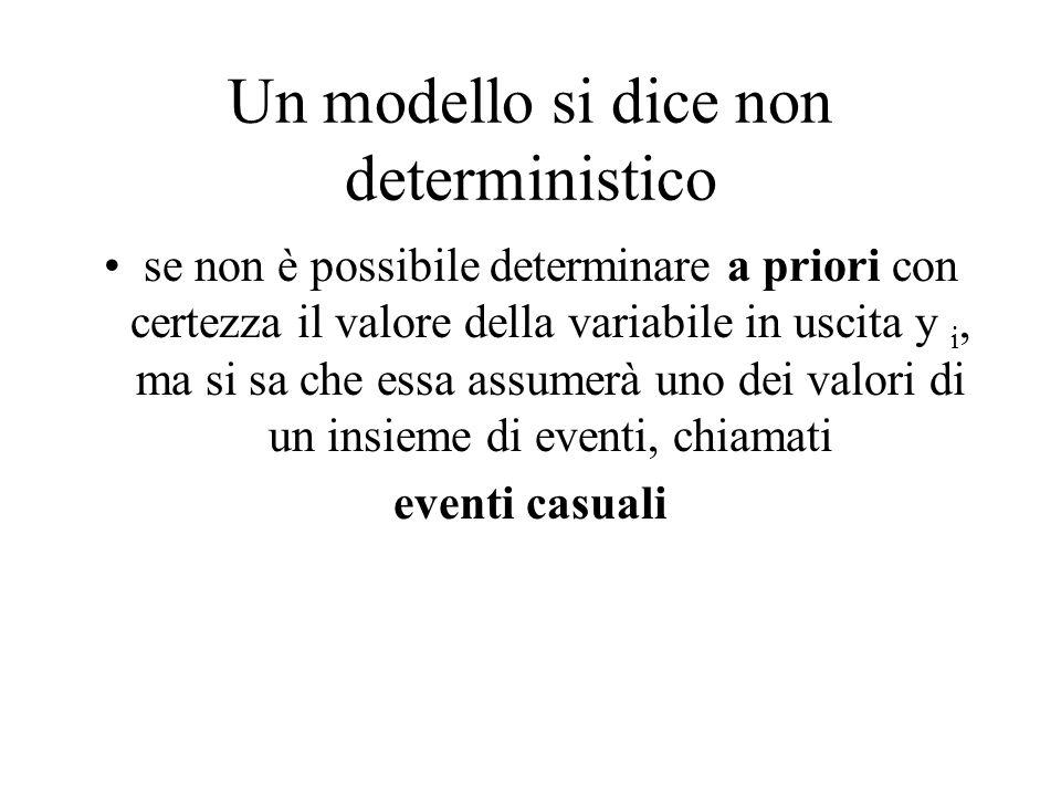 Un modello si dice non deterministico