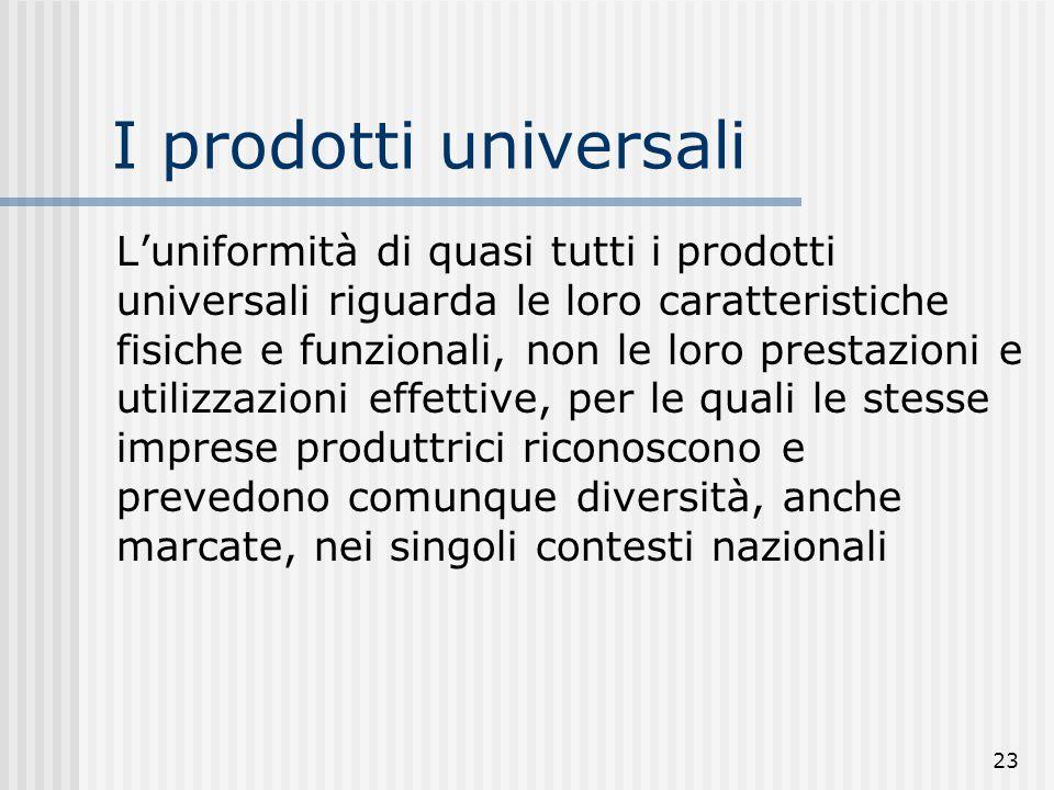 I prodotti universali