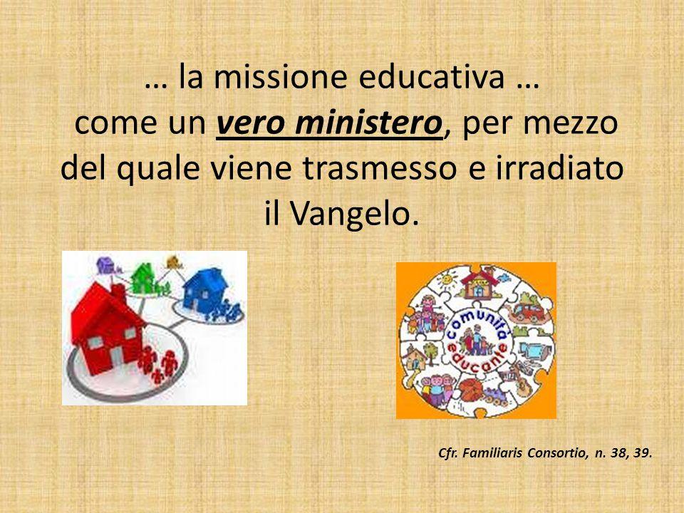 Cfr. Familiaris Consortio, n. 38, 39.