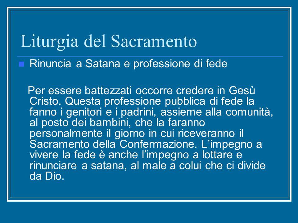 Liturgia del Sacramento