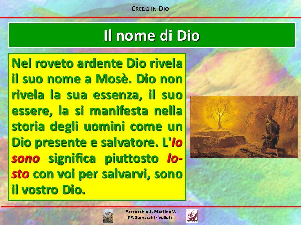 Credo in Dio Il nome di Dio.