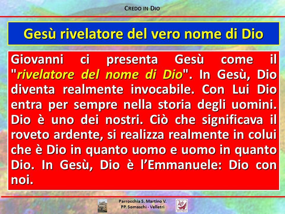 Gesù rivelatore del vero nome di Dio