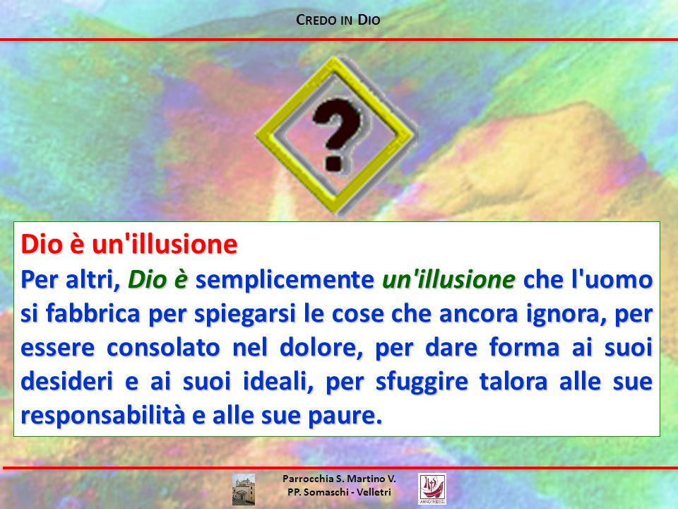 Credo in Dio Dio è un illusione.