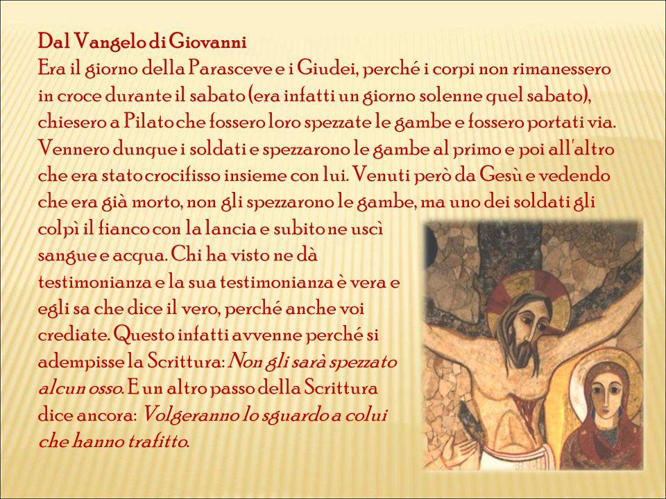 Dal Vangelo di Giovanni