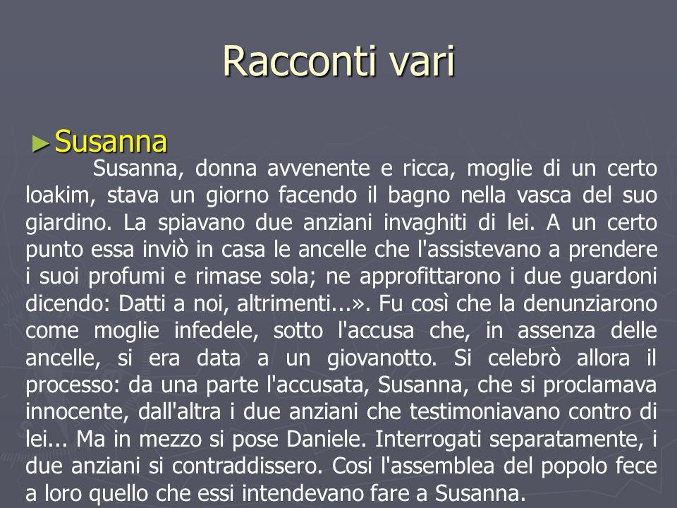 Racconti vari Susanna.