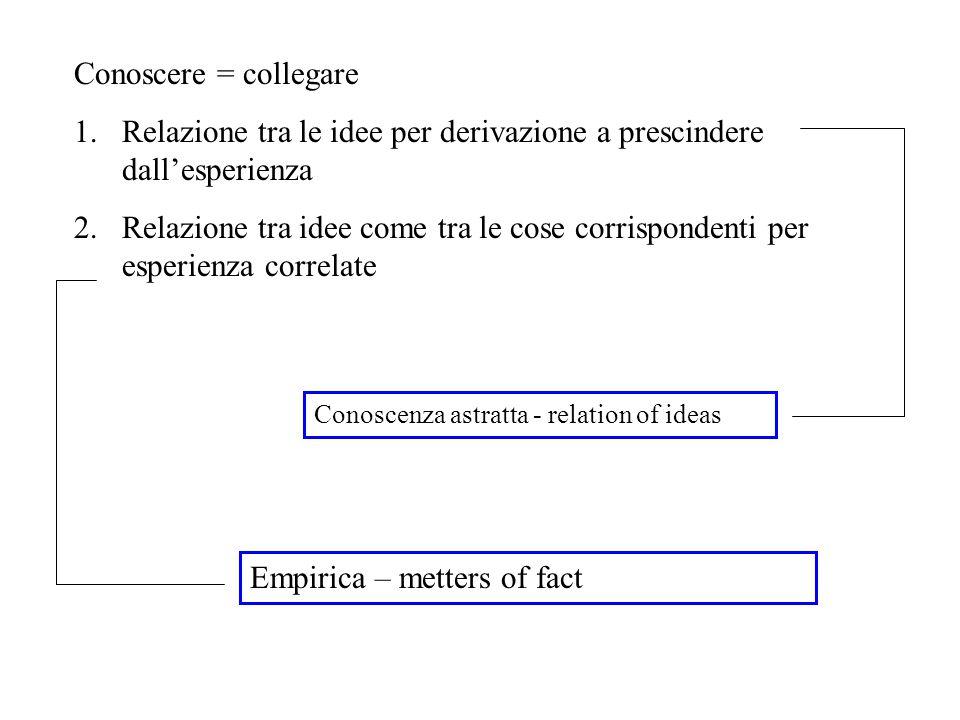 Relazione tra le idee per derivazione a prescindere dall'esperienza