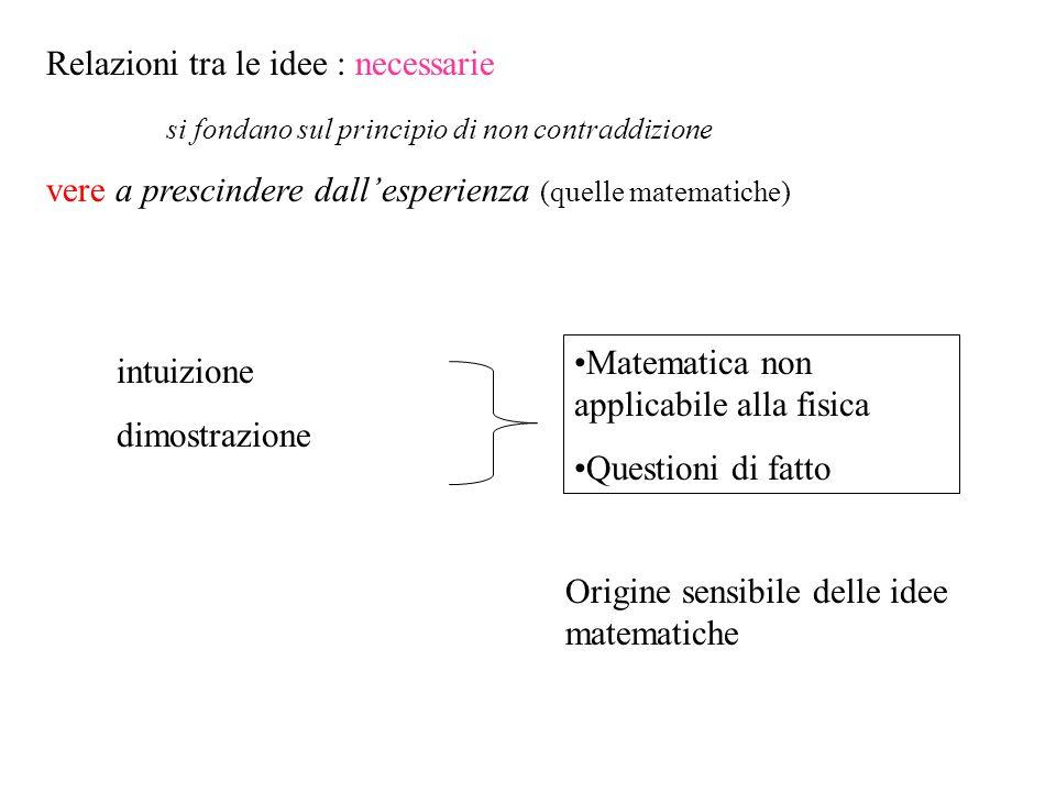 Relazioni tra le idee : necessarie