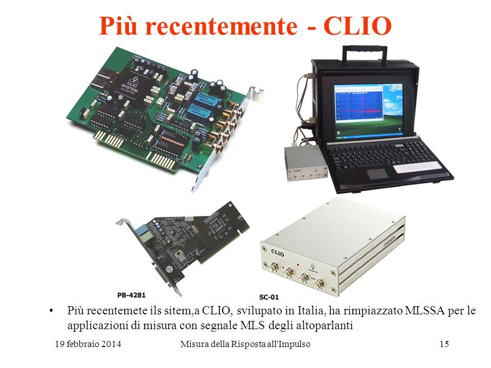 Più recentemente - CLIO